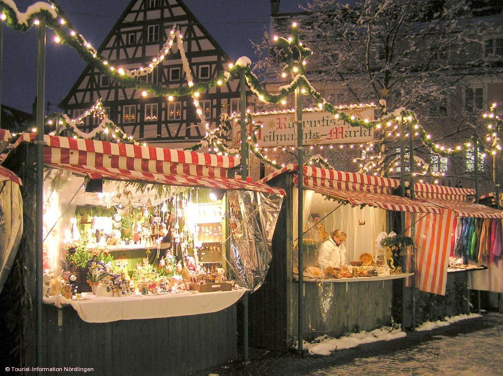 Romantischer Weihnachtsmarkt.Romantischer Weihnachtsmarkt Nördlingen Im Geopark Ries Am 29 11