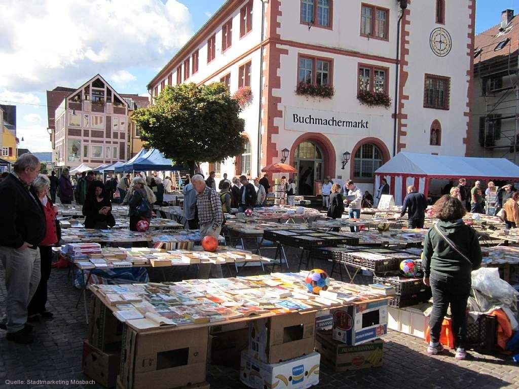 buchmachermarkt mit b cherflohmarkt am sonntag mosbach am bis markt. Black Bedroom Furniture Sets. Home Design Ideas