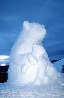 """2. Schwarzwälder Schneeskulpturen-Festival """"weiß und eiskalt"""" Bernau im Schwarzwald"""