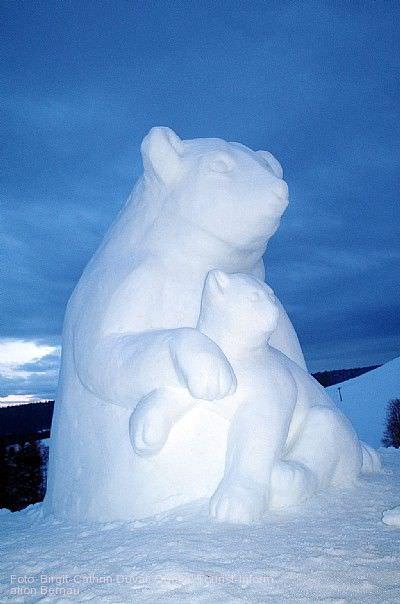 4. Schwarzwälder Schneeskulpturen-Festival Bernau im Schwarzwald
