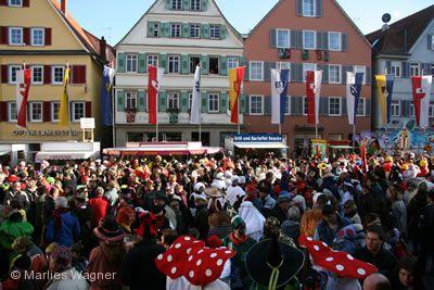 Ahlandtaufe und Fasnetsverbrennung Rottenburg am Neckar