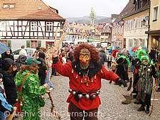 Narrenbaumstellen und Fastnachtsumzug Gernsbach