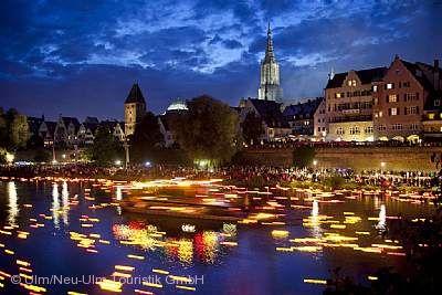Lichterserenade auf der Donau Ulm/Neu-Ulm am 22.07.2017