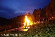 Traditionelles Scheibenschlagen Haslach im Kinzigtal