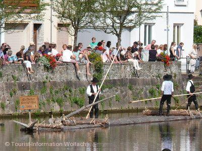 Floßhafenfest mit Floßfahrt Wolfach