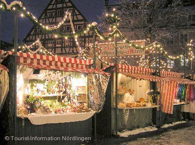 Romantischer Weihnachtsmarkt Nördlingen im Geopark Ries