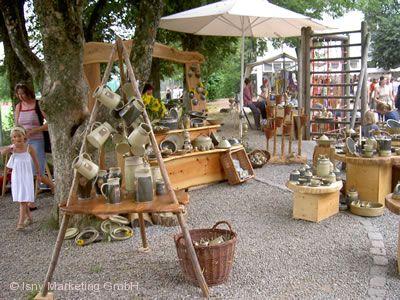 Töpfermarkt mit Kunsthandwerk Isny im Allgäu
