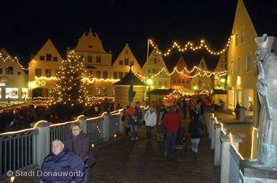 Romantischer Weihnachtsmarkt Donauwörth