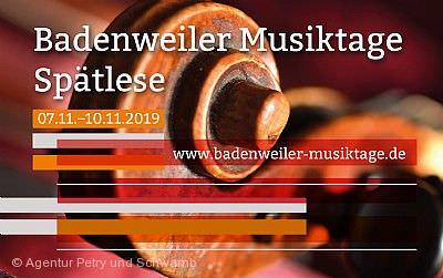 Badenweiler Musiktage - Spätlese