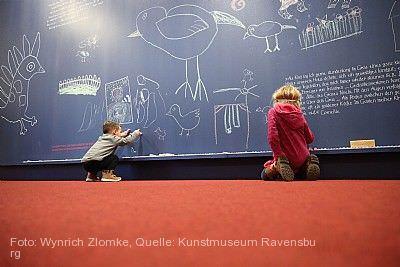 """Eine Ausstellung von Kindern für Kinder: """"Der blaue Vogel. Corneille aus Kinderaugen"""" Ravensburg"""