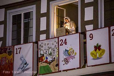 Adventskalender am Fachwerkrathaus Kirchheim unter Teck