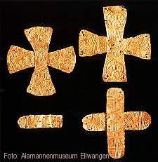 """""""Goldblattkreuze - Glaubenszeichen der Alamannen"""" Ellwangen (Jagst)"""