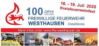 Kreisfeuerwehrfest / 100 Jahre Feuerwehr Westhausen