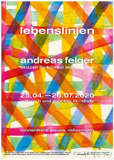 """Lebenslinien Andreas Felgers Skizzen im Kontext seiner Kunst"" Mössingen"