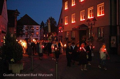 Lichterprozession Bad Wurzach am 05.07.2020