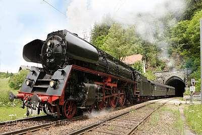"""Schwarzwaldbahn Erlebnisfahrten """"37 Tunnel unter Dampf"""" Hausach"""