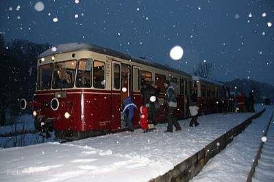 Nikolausfahrt mit der Härtsfeld-Museumsbahn Neresheim