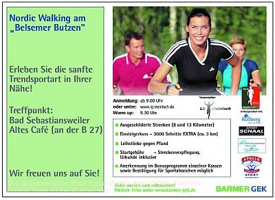Nordic-Walking-Tag und Kurparkfest Mössingen