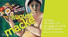 """""""August Macke - Flaneur im Garten der Kunst"""" Lindau im Bodensee"""