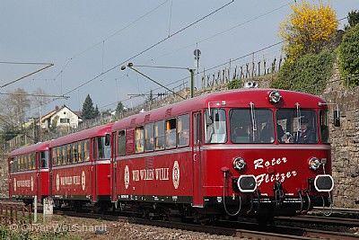 """Fahrt mit dem historischen Schienenbus ROTER FLITZER nach Ötigheim zum Schauspiel """"Wilhelm Tell"""" - Abgesagt !!! Stuttgart"""