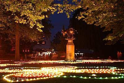 Pfingstmarkt mit Schlossparkbeleuchtung Angelbachtal