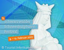 """1. Schneeskulpturen-Festival im Schwarzwald """"weiß und eiskalt"""" Bernau im Schwarzwald"""