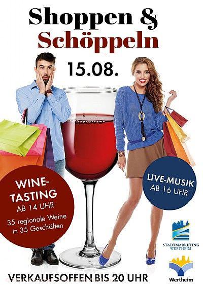 """""""Shoppen und Schöppeln"""" Wertheim"""