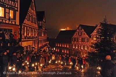 Der historische Silvesterzug und die Nachtwächter Schiltach