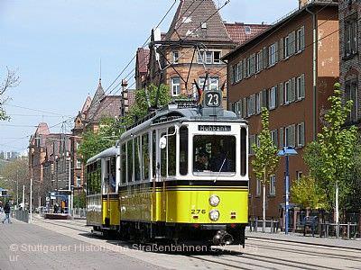 Straßenbahn-Oldtimerlinie 23 / Straßenbahnmuseum Stuttgart