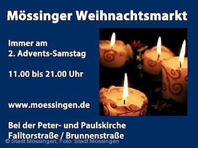 Weihnachtsmarkt Mössingen am 05.12.2020