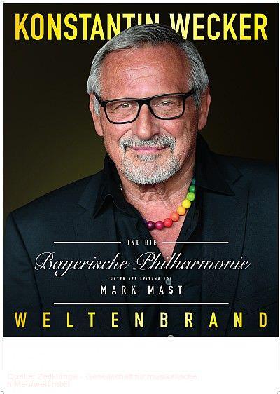 """""""Weltenbrand"""" - Konstantin Wecker & Bayerische Philharmonie Freiburg im Breisgau am 08.11.2019"""