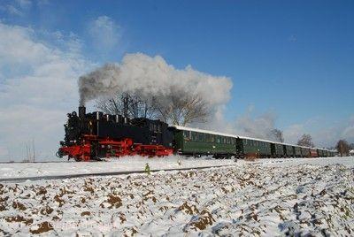 Winterdampffahrten der Öchsle-Bahn Warthausen