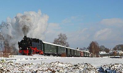 Winterdampffahrten der Öchsle-Bahn Ochsenhausen