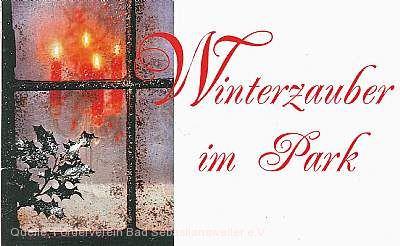 Weihnachtsmarkt - Winterzauber im Park Mössingen